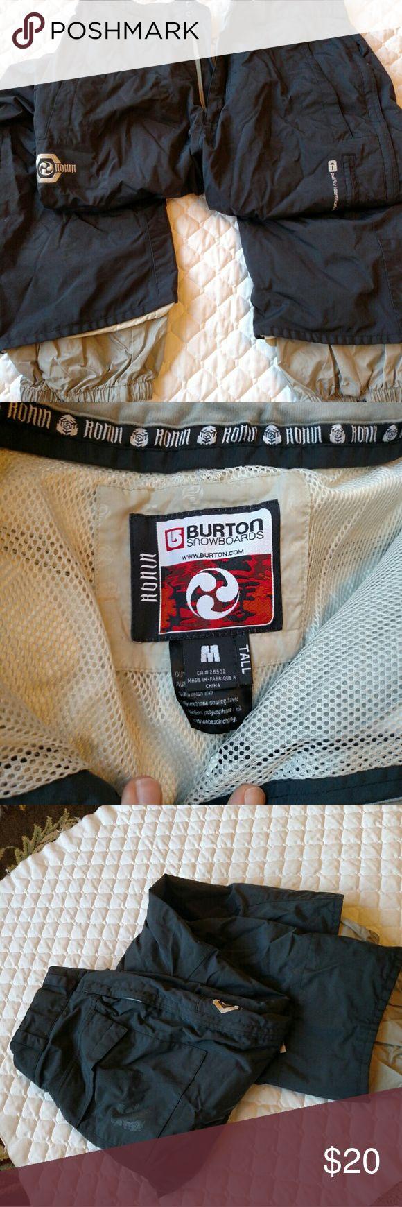 Burton snowboard pants Medium tall Used but still great condition Burton pants. Burton Pants Sweatpants & Joggers