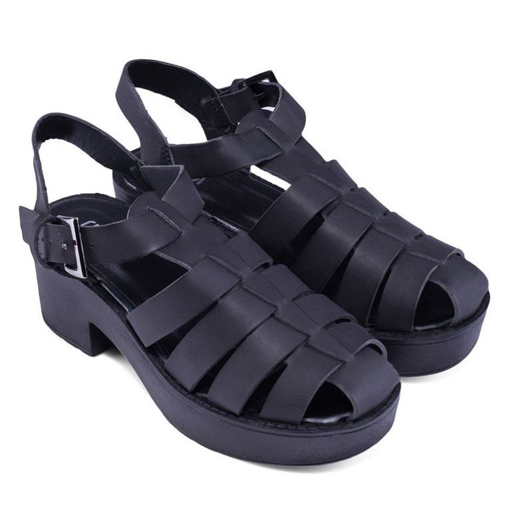 Bermuda Heels by Rubi. Chunky heels sandals, with black color, this chunky heels sandals made from synthetic leather, a perfect for casual style, pin buckle closure, ankle strap, pair this bermuda with ripped skinny jeans and black sleeveless top for a casual style. %0A%0A%0A http://www.zocko.com/z/JHy1p