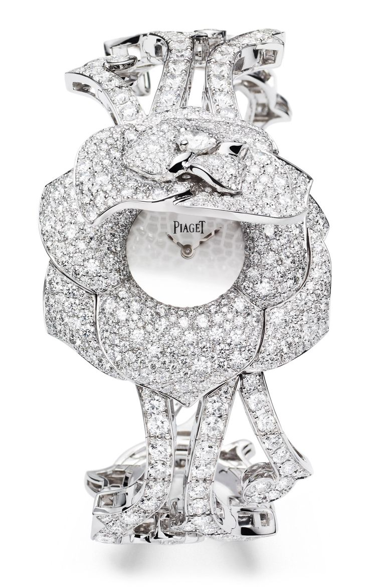 Piaget Rose - Limelight Garden Party watch with case-spring Case in 18K white gold set with 668 brilliant-cut diamonds (approx. 8.7 cts). Silver-coloured dial. 18K white gold bracelet set with 253 brilliant-cut diamonds (approx. 8.5 cts). Piaget 56P quartz movement.