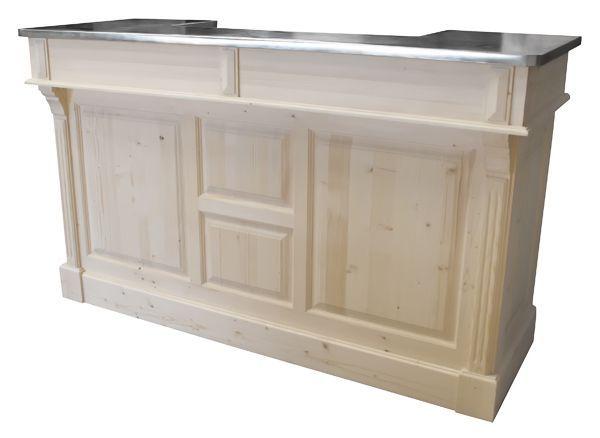 Comptoir de bar 150cm - Plateau zinc ou pin