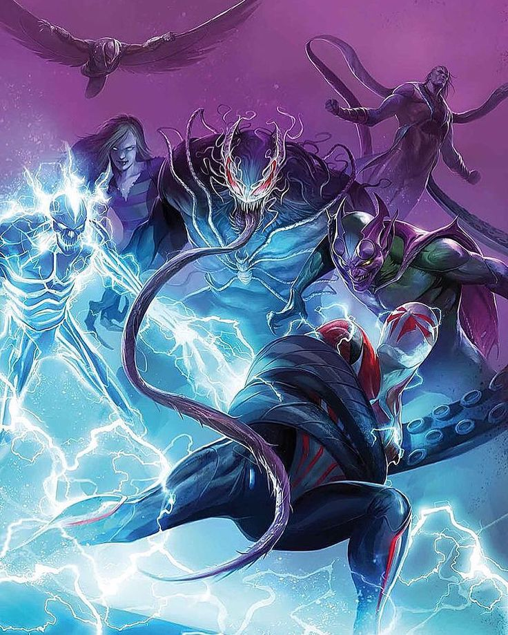 Spider-Man 2099 vs the Sinister Six of 2099