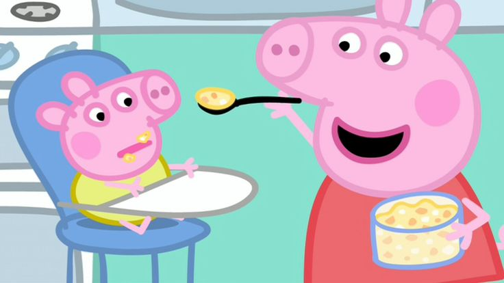Watching Peppa Pig Baby Alexander in iview