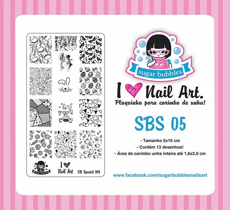 Small Nail Art Stamping Plate Sugar Bubbles SBS 05