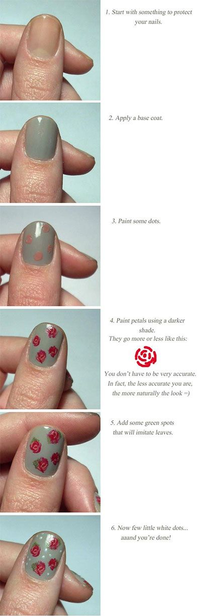 Rose nail tutorial! For all your nail needs check out the closest Duane Reade.