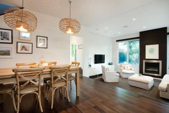 Living area, timber floors in Kensington House - The Design Hunter
