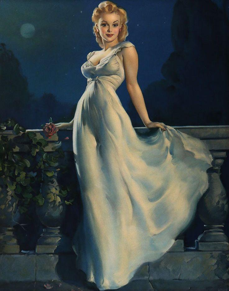 Dream Girl by Gil Elvgren (C. Moss, 1943) www.stores.eBay.com/GrapefruitMoonGallery