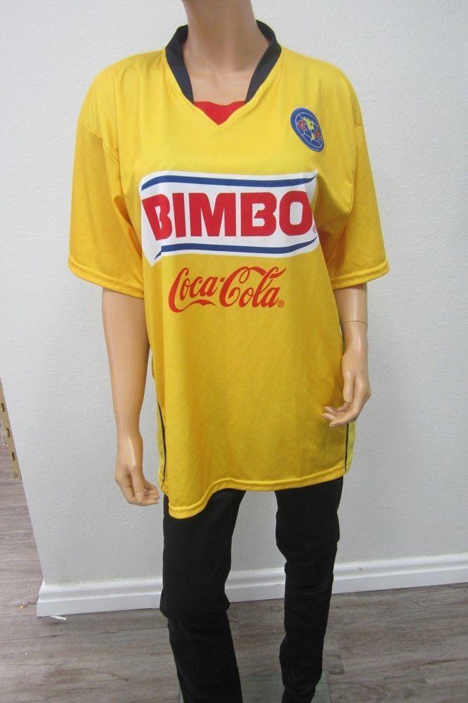 NEW  Ortega Sport Club America Soccer Jersey Bimbo Coca Cola Corona Men s  Sz XL 53d4280ea