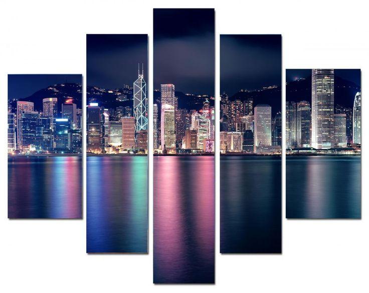 Модульная картина Город