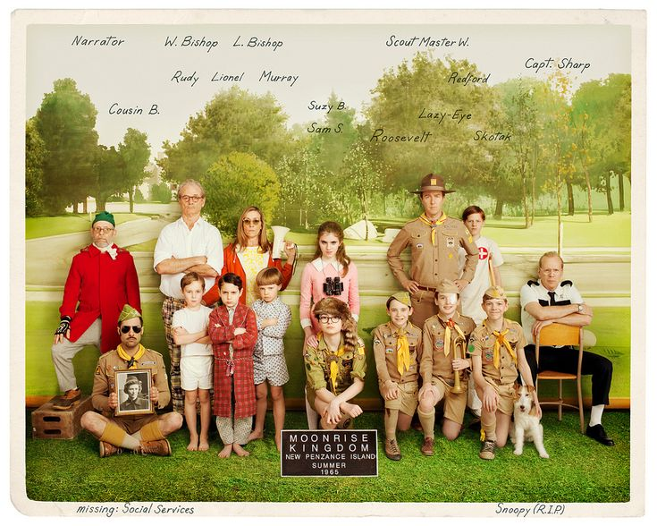 Moonrise Kingdom, directed by Wes Anderson