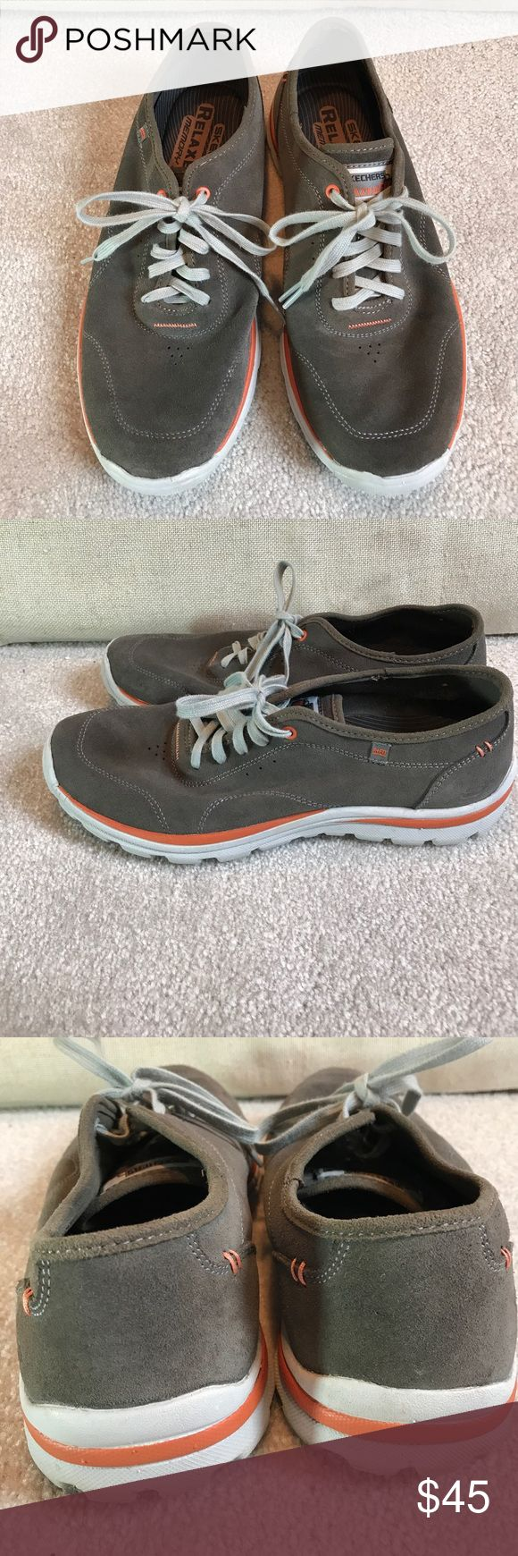 Men's Skechers RelaxedFit memory foam sneakers 9.5 Once worn. Clean. Unlined suede. Light and perfect for summer Skechers Shoes Sneakers