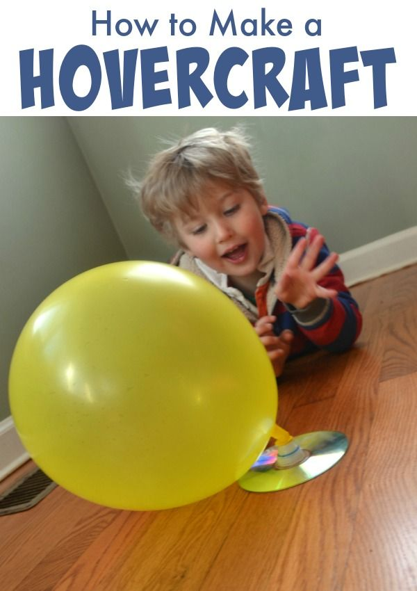 Make Your Own Hovercraft! This is a pefect idea for a science experiment on a rainy day!