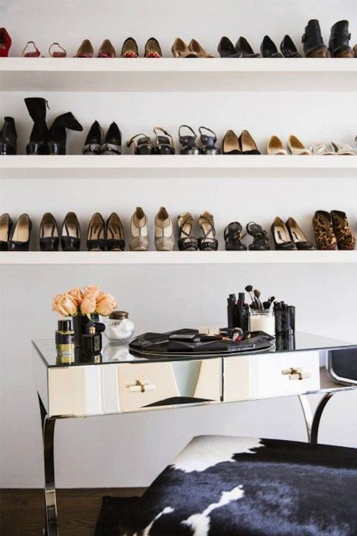 Shoe Shelves Floating White Shoe Storage Dressing