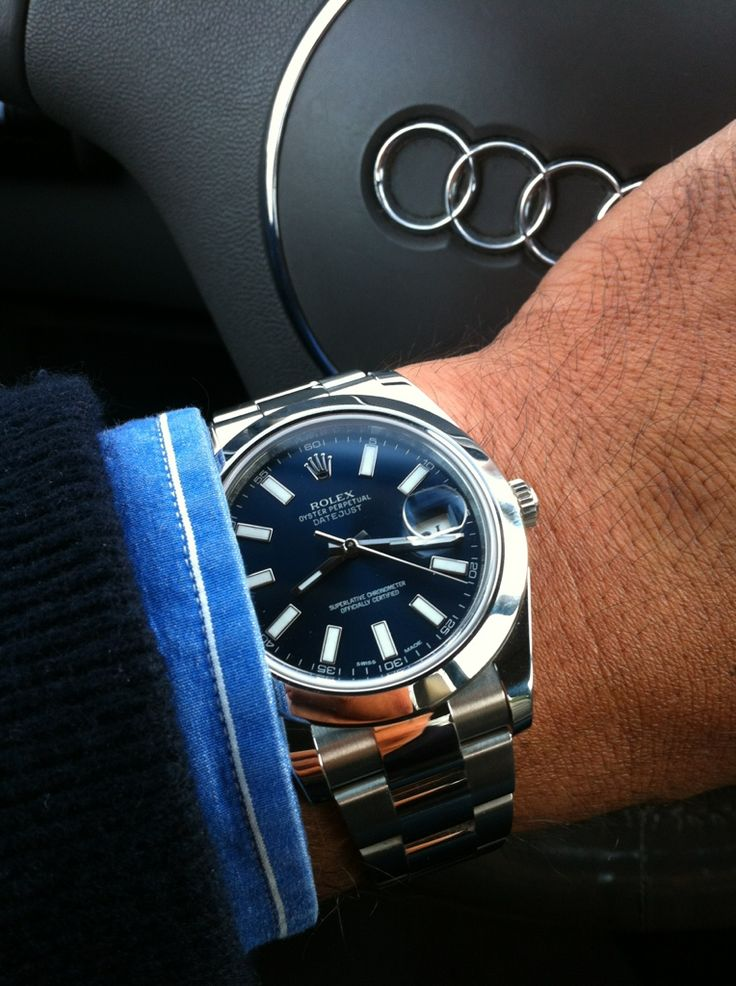 ROLEX DATEJUST II 116300 STAINLESS STEEL BLUE DIAL & OYSTER BRACELET.