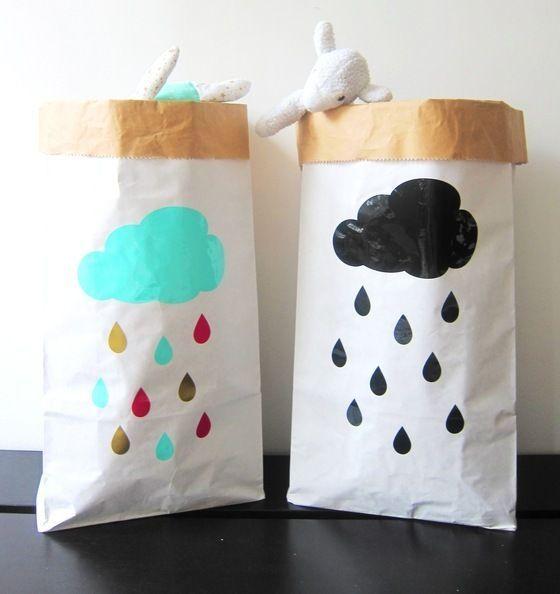 Rain Drops XXL Paper Bag | Www.glorioussweets.com