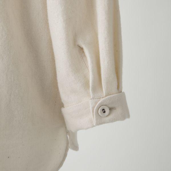 ゆったりシャツ-綿ウール-