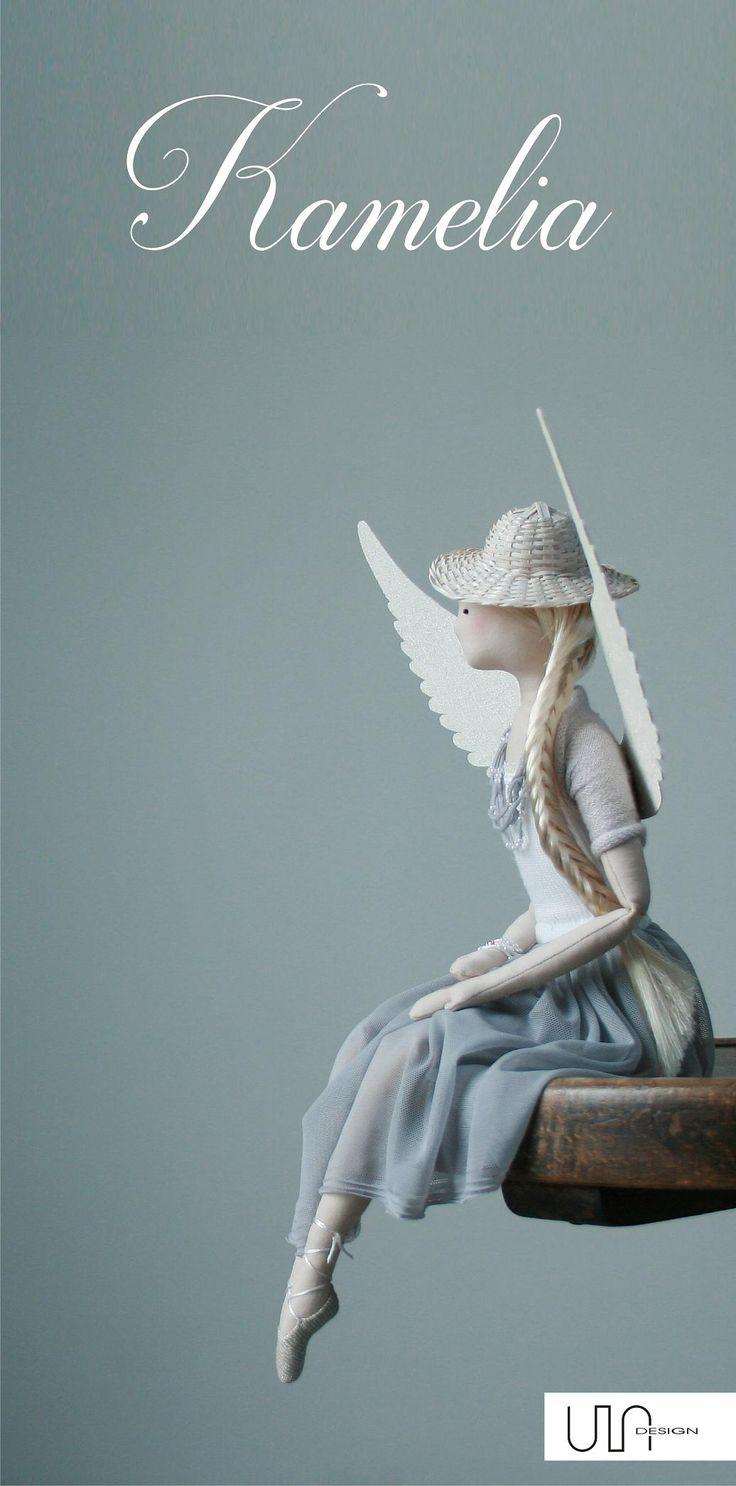 Ballet, ballerina, Tilda Angel Kamelia <3 handmade doll