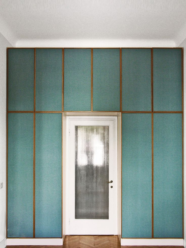 Brass framed wall panelling