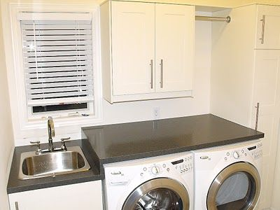 Ikea Adel Cabinets In Laundry Room Tension Rod For