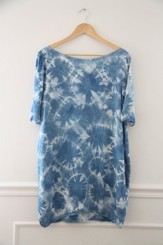 Indigo Shibori Cocoon Dress by bloomingleopold on Etsy