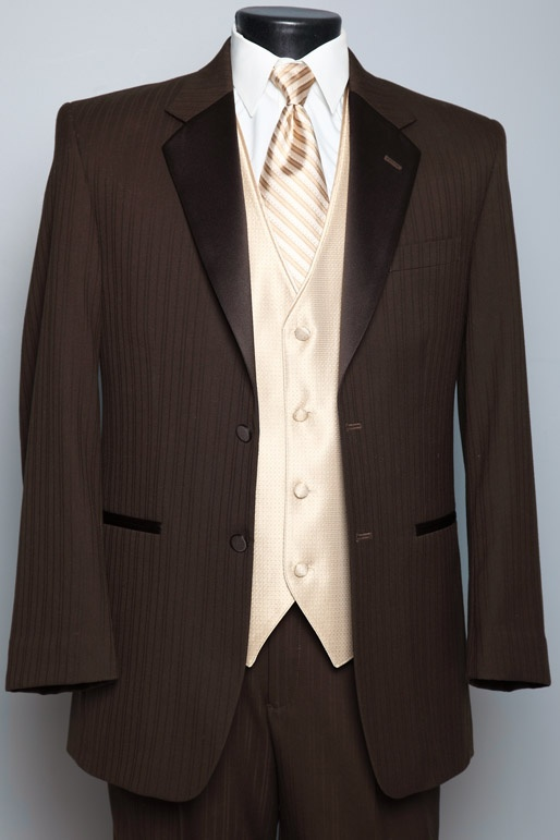 Brown Tux....This one's from Dunhill  Wonder if Mitchell would like a brown tux... I adore it.