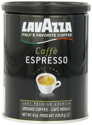 Lavazza Caffe Espresso - Medium Ground Coffee, 8-Ounce Cans (Pack of 4) - http://teacoffeestore.com/lavazza-caffe-espresso-medium-ground-coffee-8-ounce-cans-pack-of-4/