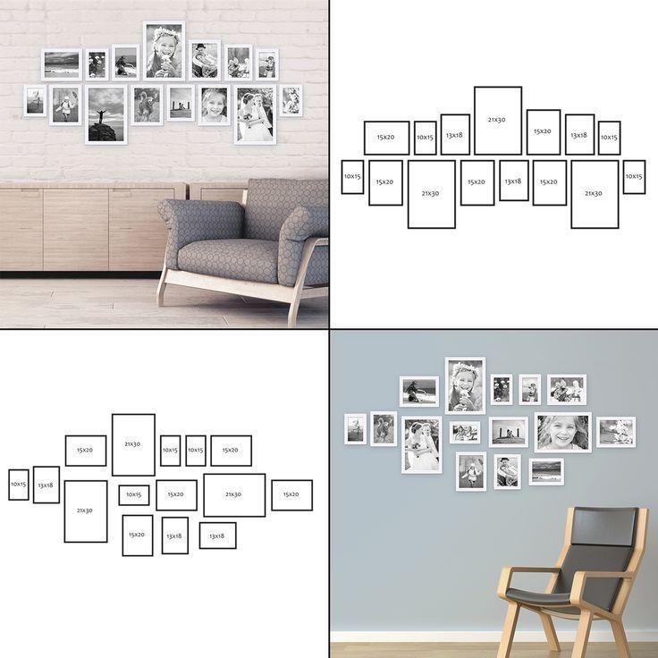 modern 15er picture frame set