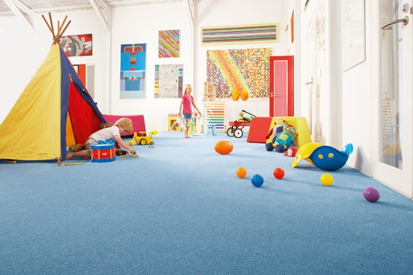 Bright colours are perfect for play rooms