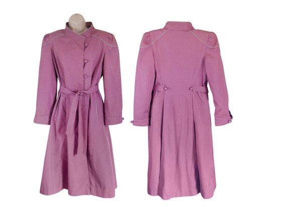 Pink Trench Coat Spring Trench Coat by #SecondhandObsession on Etsy