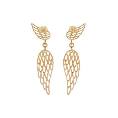 Choose the Wings earrings to make a beautiful gift to your beloved one! Original, elegant, this jewellery is a perfect present for Christmas. Available in 23k gold-plated and 925 silver #lilou #christmas #earrings #wings #gift #present #elegant #original