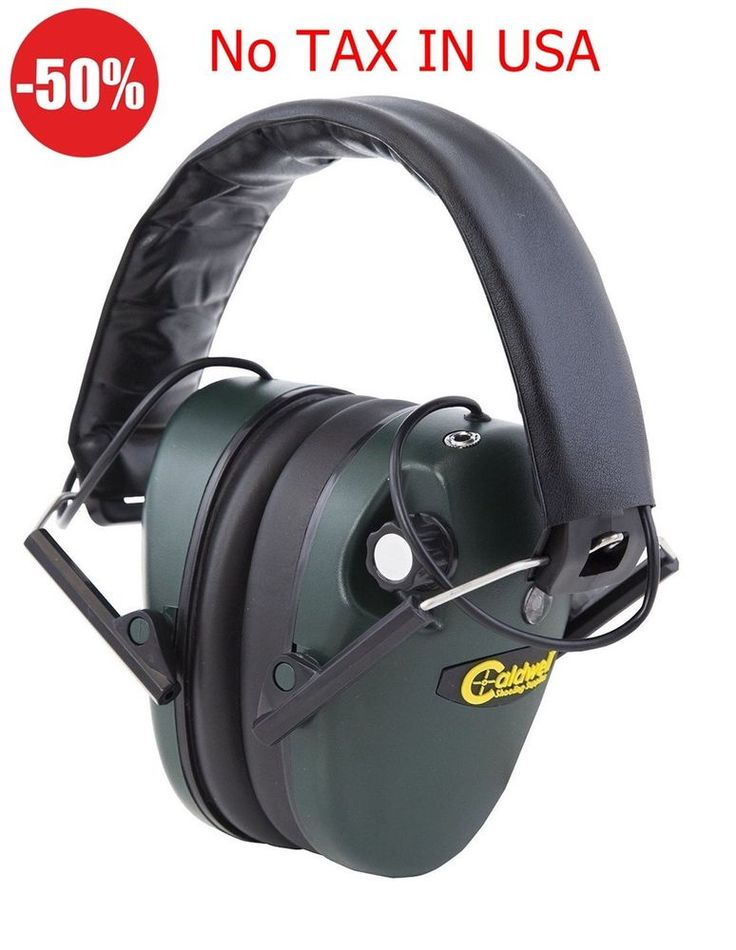 Safety Champion Electronic Ear Muffs Noise Cancelling Shooting Range Hunting Fun #Caldwell