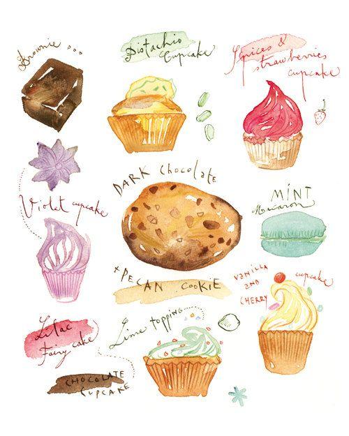 cupcakes, cookies, macarons