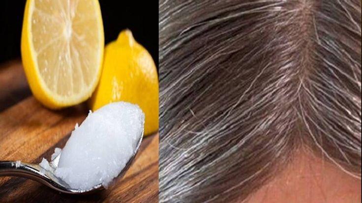 Elimina las canas con aceite de coco y limón, y recupera el color natura...