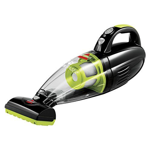 Pet Hair Eraser Cordless Hand Vacuum.  This smart-looking hand vac features a motorized brush for cleaning pet hair from stairs and upholstery!