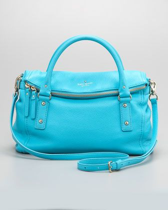 Absolutely gorgeous color.Spade Leslie, Tops Satchel, Folding Ov Tops, Handbags Handbags Handbags, Leslie Folding Ov, Foldover Tops, Bags Pur, Leslie Foldover, Kate Spade