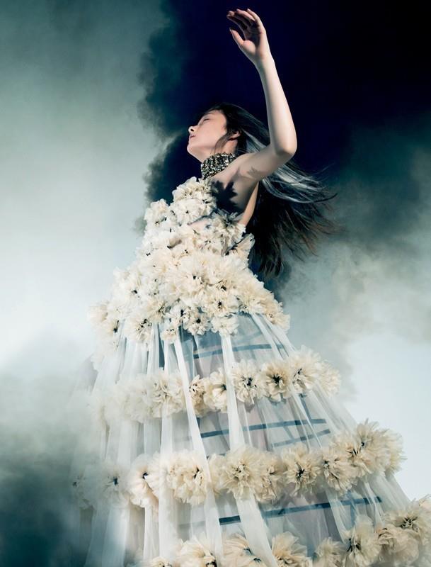 Yumi Lambert stars in Pierre Debusschere & Robbie Spencer's 'Age of Aquarius' shoot.