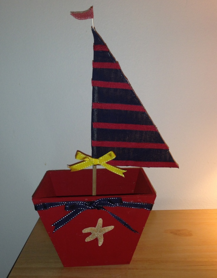 Nautical theme, Sailboat Centerpiece! Perfect for Birthday Parties!