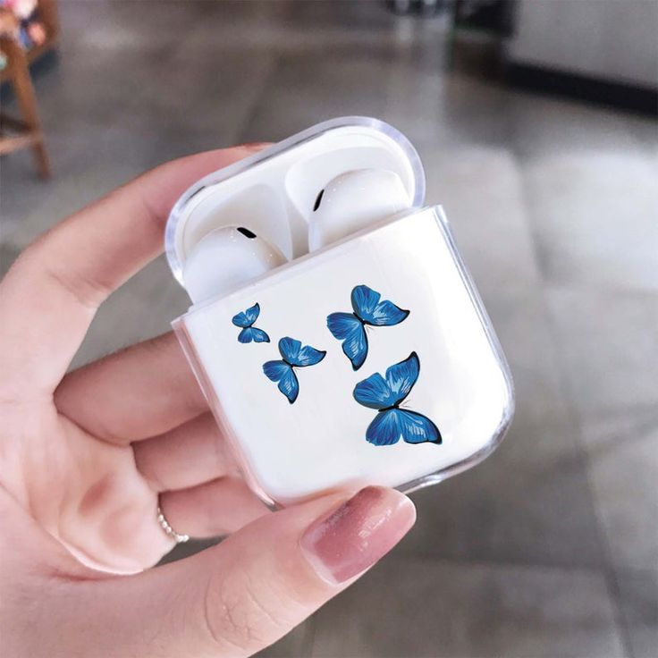Butterfly AirPods Case Clear AirPod Pro Case Transparent ...