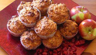 Muffins aux pommes et canneberges