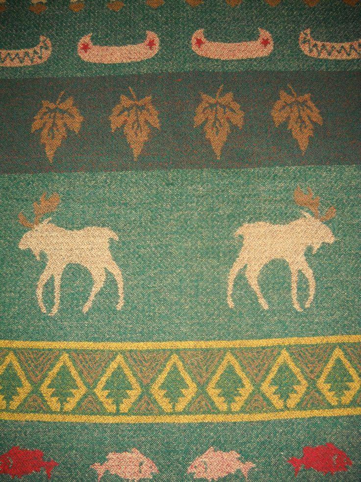 Pendleton Wool Fabric Unusual Pattern Cabin Decor Forest Scene My