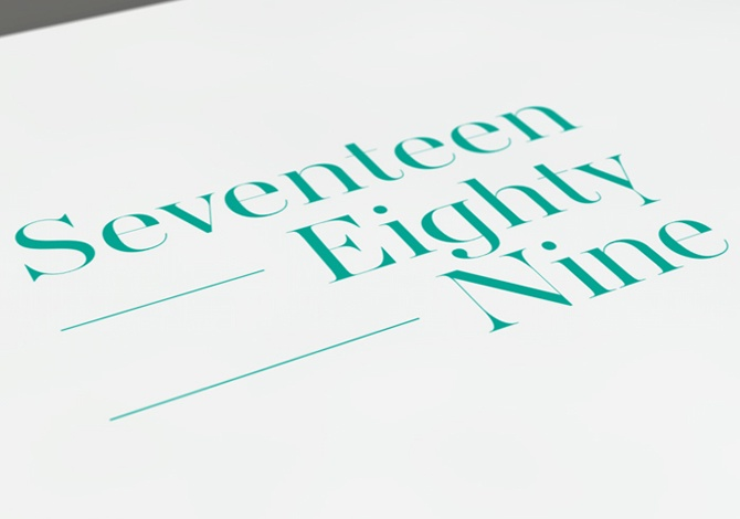"Concept-driven.  Brand identity for 1789, an independent consultancy offering advice on animal health and welfare.  The name refers to the year philosopher Jeremy Bentham said, ""The question is not can they reason,  nor can they talk; but can they suffer?"""