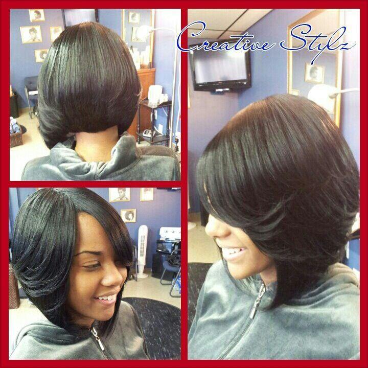 Short Hairstyles On Pinterest Black Women Bobs And Razor