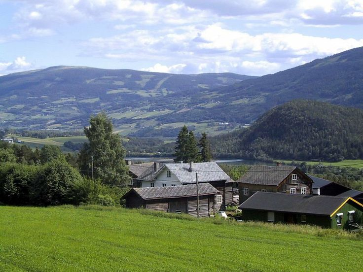 View of Hundorp. It is a village in Gudbrandsdalen, located in  Oppland county of #norway