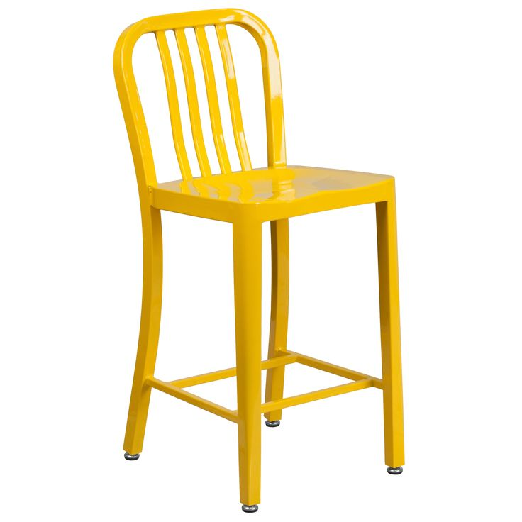 Flash Furniture 24 inches Metal Stool w/ Back (Yellow)  sc 1 st  Pinterest & Best 25+ 24 inch bar stools ideas on Pinterest | 24 bar stools 24 ... islam-shia.org