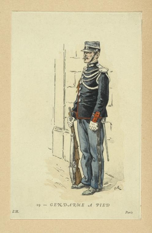 Gendarme a Pied, France, 1896. NYPL Digital Gallery.
