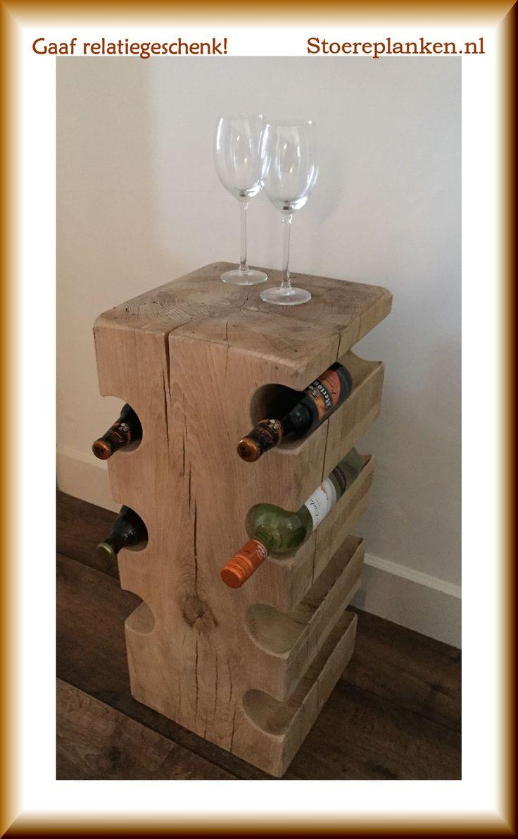 Nog op zoek naar een #relatiegeschenk?! Dit #houten #wijnrek is ideaal! Aanpassingen altijd mogelijk.