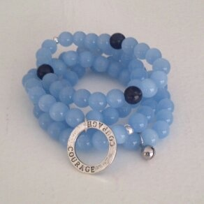 Stone and Shadow for a cause. Nicaragua blue beads