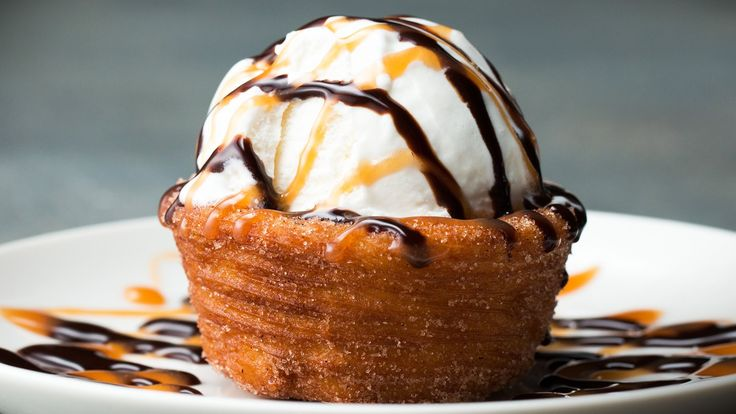Churro Ice Cream Bowl | Tasty. This would be a fun treat for my cinco de mayo birthday!