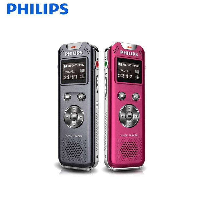 PHILIPS VTR5800 USB Digital Voice Recorder Sound-card-professional-recording for Minutes of the Meeting FM radio and FM Record