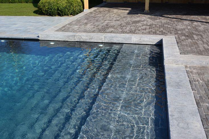 Realisaties zwemvijvers hybride zwembaden zwemvijvers pinterest more dream pools and - Strand zwembad natuursteen ...