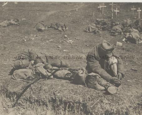 BU-F-01073-1-08760 Primul război mondial. Soldat pe front, s. d. (sine dato) (niv.Document)